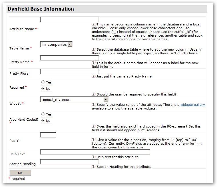 Webform New Dynfield